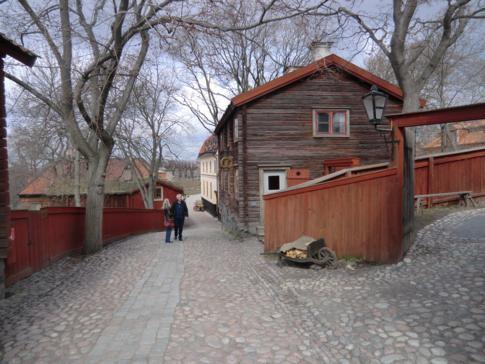 Eine alte Bäckerei im Freilichtmuseum von Stockholm: Skansen