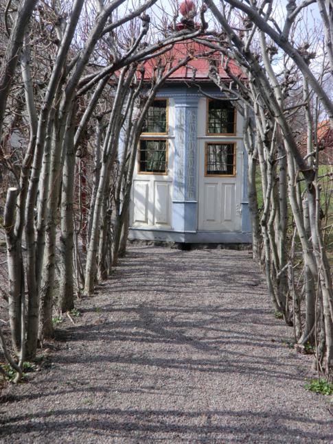 Ein altes Sommerhaus in Skansen