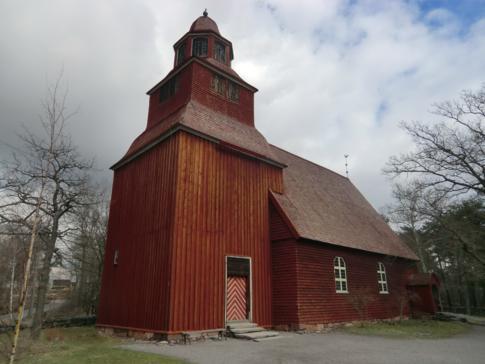 Eine Kirche irgendwo aus Schweden, nun steht sie im Skansen in Stockholm