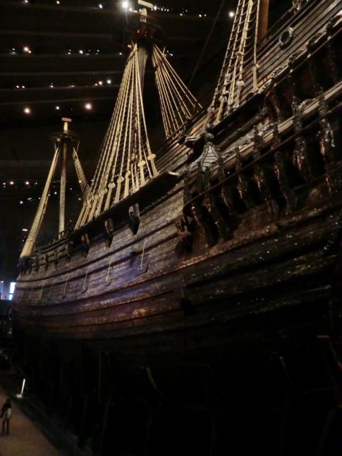 Das Schiff Vasa im Vasamuseum in Stockholm
