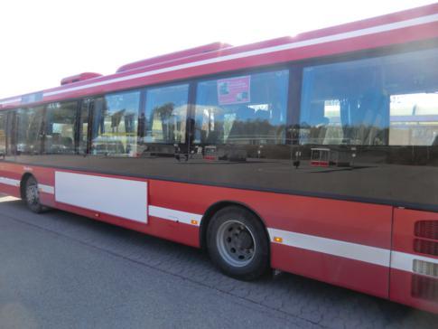 Ein öffentlicher Bus in Stockholm
