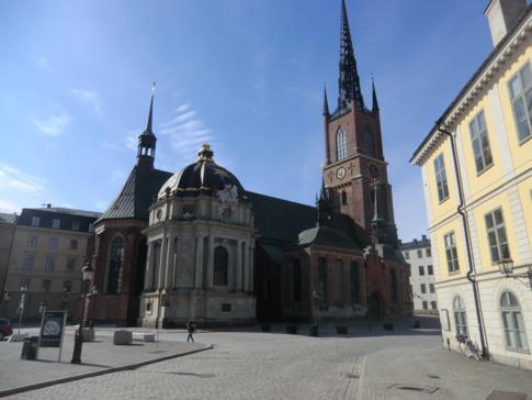 Die Riddarholmenkyrkan im gleichnamigen Stadtteil, dem historischen Zentrum von Stockholm