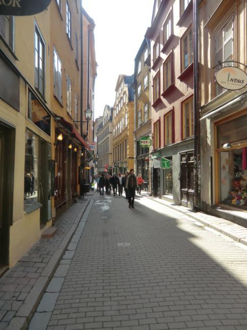 Die engen Gassen von Gamla Stan, der Altstadt von Stockholm