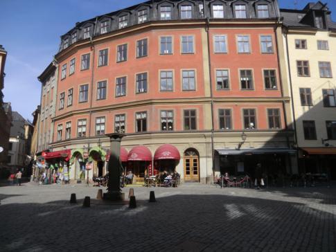 Einer der historischen Plätze in Gamla Stan, der Altstadt von Stockholm