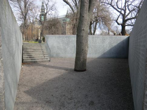 Das Stockholmer Estonia-Monument auf der Insel Djurgarden