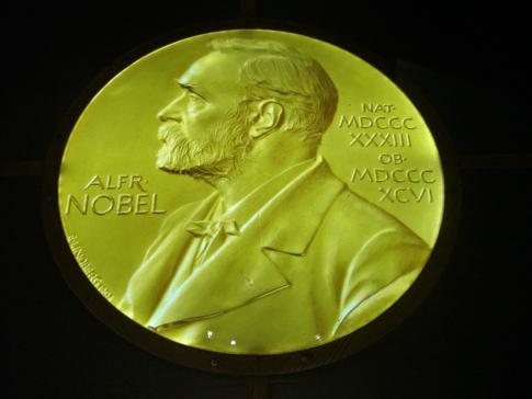 Das Portrait von Alfred Nobel im Nobelmuseum von Stockholm