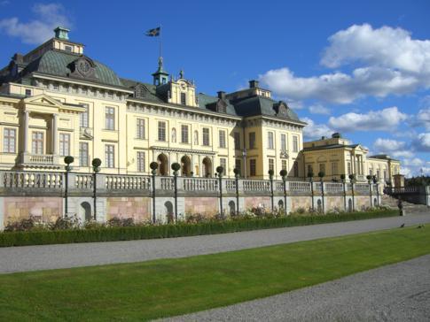 Nordansicht des Stockholmer Schlosses Drottningholm