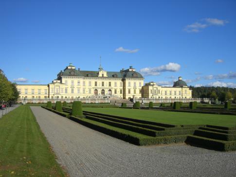 Schöne Nordansicht von Drottningholm in Stockholm