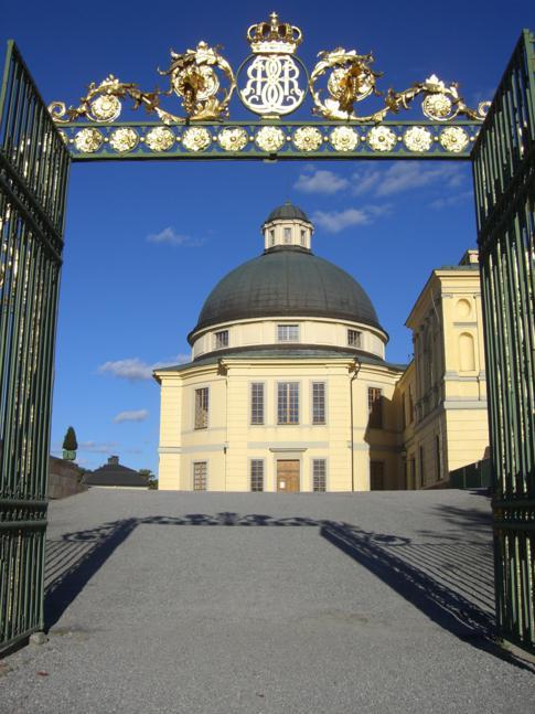 Ansicht des Ostflüges des Schloss Drottningholm