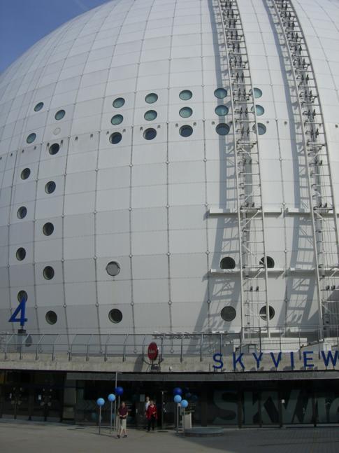 Der Globen, Austragungsort für die wichtigsten Eishockey-Spiele in Stockholm