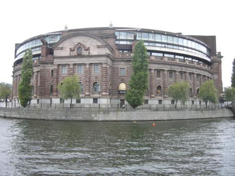 Der Reichstag von Schweden im Zentrum von Stockholm