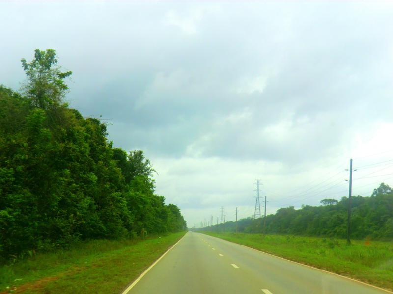 Auf dem Weg von Paramaribo nach Atjoni im Minibus