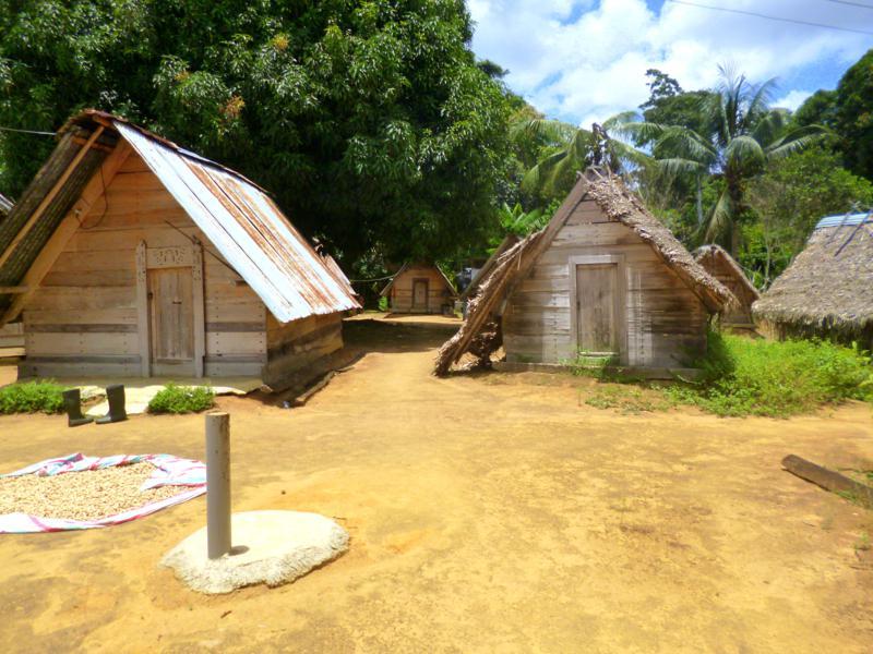 Das Dorf Pingpe, wo die Ureinwohner der Saramaccaner wohnen