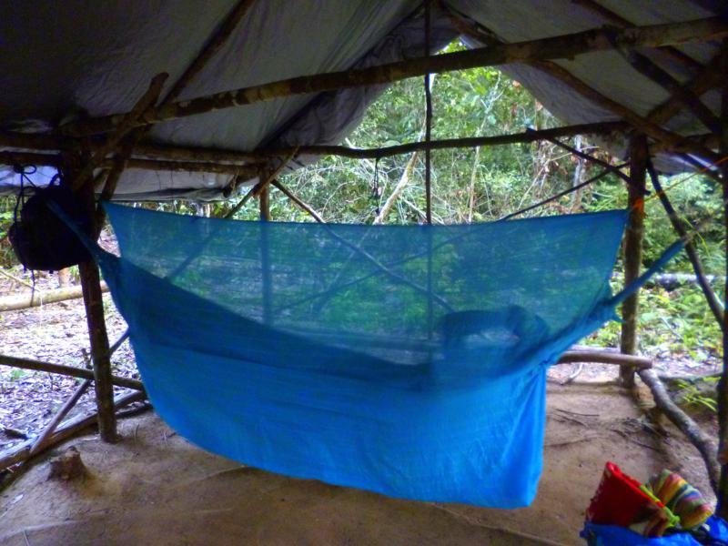 Unser Back-to-Basic-Basis-Camp mitten im Dschungel von Suriname