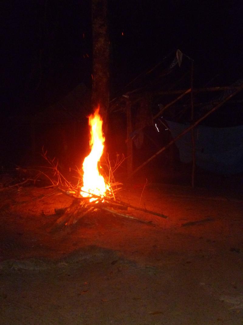 Lagerfeuer im Dschungelcamp