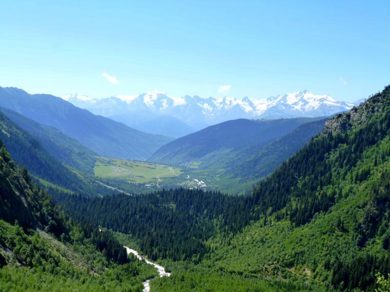 Beeindruckende Landschaft in der Svaneti-Region bei Mazeri