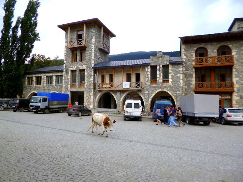 Das restaurierte Zentrum von Mestia