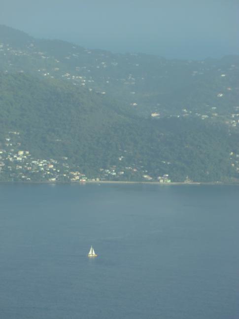 Blick auf die Westküste von Grenada