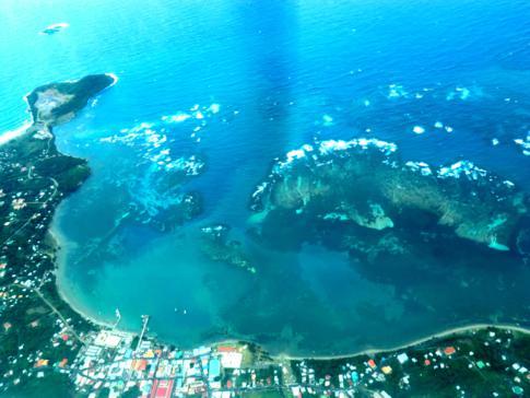 Flug mit SVG Air von Grenada nach Carriacou: Blick auf die Buchung von Grenville