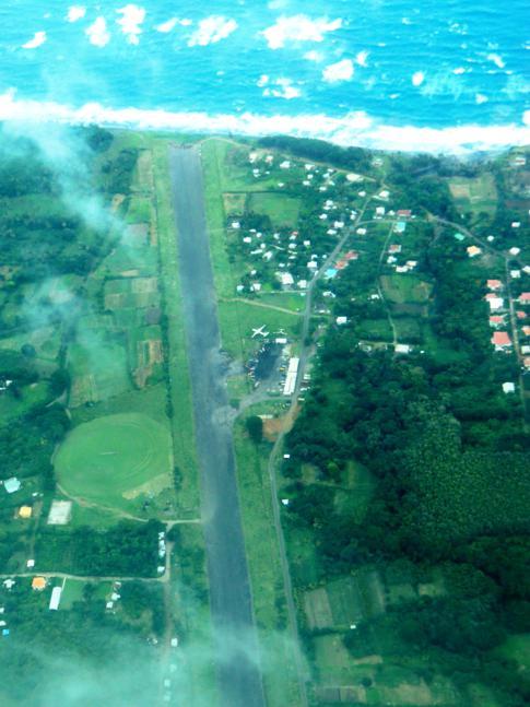 Flug mit SVG Air von Grenada nach Carriacou: der alte Pearls Airport