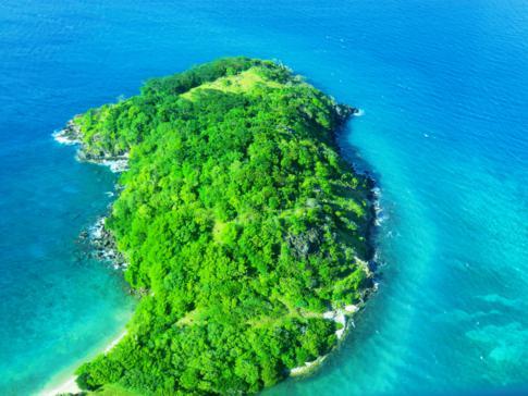 Fantastische Ausblick während des Fluges mit SVG Air von Carriacou nach Grenada