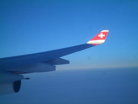 Die Swiss auf dem Flug von Zürich nach San Francisco