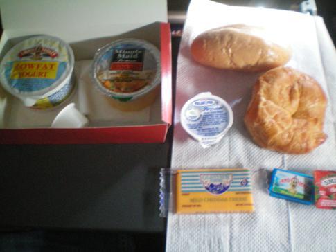 Das Frühstück in der Economy Class bei Swiss Airlines