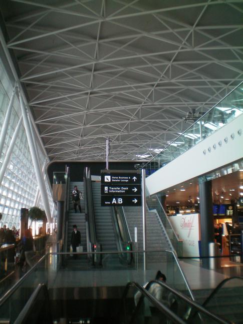 Der Flughafen Zürich-Klothen beim Umsteigen zwischen zwei Swiss-Flügen