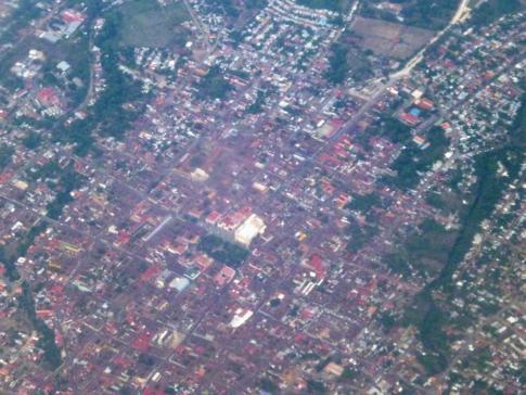Blick auf Granada während des Fluges nach Costa Rica