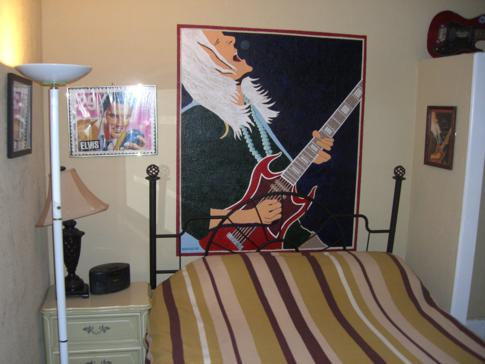 Unser RocknRoll Zimmer in Grams Place in Tampa