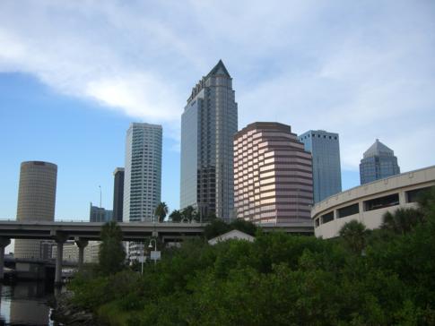 Blick auf die Skyline von Tampa