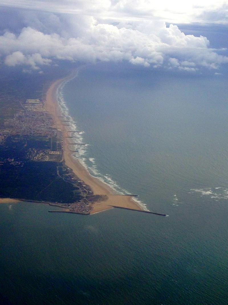 Ausblick auf die Küste vor Lissabon