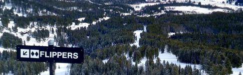 Das Skigebiet Bridger Bowl in Montana, USA