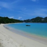 Der Paradise Beach, ein Teil des Reiseberichts über Carriacou