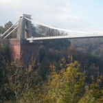 Die Clifton Suspension Bridge in Bristol im Westen von England