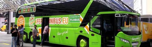 Vergleich von Fernbussen in Deutschland, u.a. mit Megabus, MeinFernbus, Flixbus und Eurolines