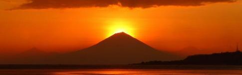 Der spektakuläre Sonnenuntergang auf Gili Air zwischen Bali und Lombok