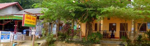 Überblick über meine genutzten Unterkünfte in Laos