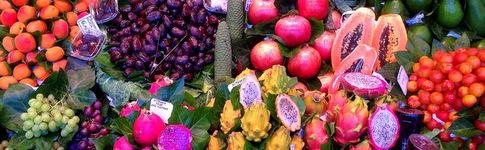 Bunte Vielfalt in Barcelonas Markt Mercat de la Boqueria