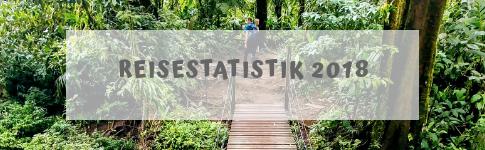 Reisestatistik zu all meinen Reisen im Jahr 2018