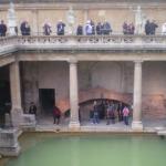 Ein UNESCO-Weltkulturerbe in Westengland, die Roman Bath (römische Bäder)