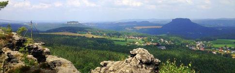 Tourenbeschreibung für die Wanderroute in der Sächsischen Schweiz zu Papststein, Pfaffenstein und Gohrisch