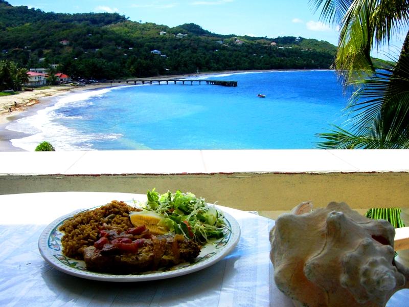 Leckeres Mittagessen in Sauteurs in Grenada