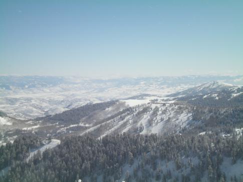 Ausblick vom höchsten Berg im Skigebiet The Canyons, dem Mount Ninety-Nine 90