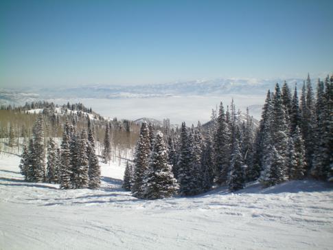 Die Piste Kokopelli, eine der schönsten Cruiserpisten in diesem Skigebiet der USA