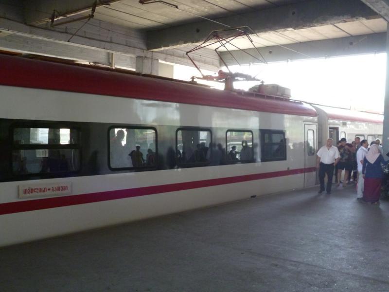 Der sehr moderne Zug, der mich von Batumi nach Tiflis brachte