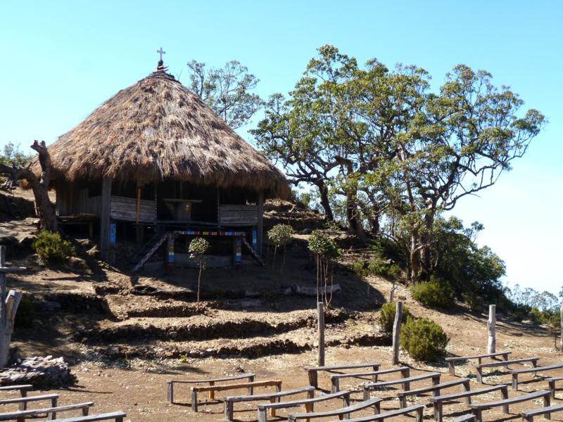 Eine Kapelle auf 2.700 Metern auf dem Weg zum Mount Ramelau
