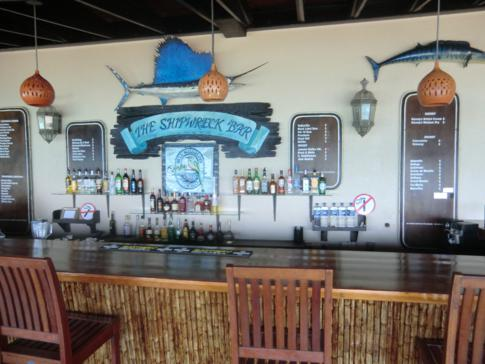 Die empfehlenswerte Shipwreck-Bar im Blue Waters Inn in Speyside
