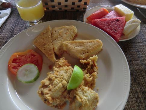 Ein typisches Gericht aus Trinidad und Tobago: Shark and Bake
