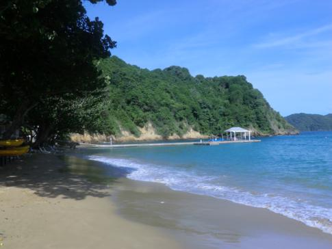 Der Strand am Blue Waters Inn, Speyside, Tobago